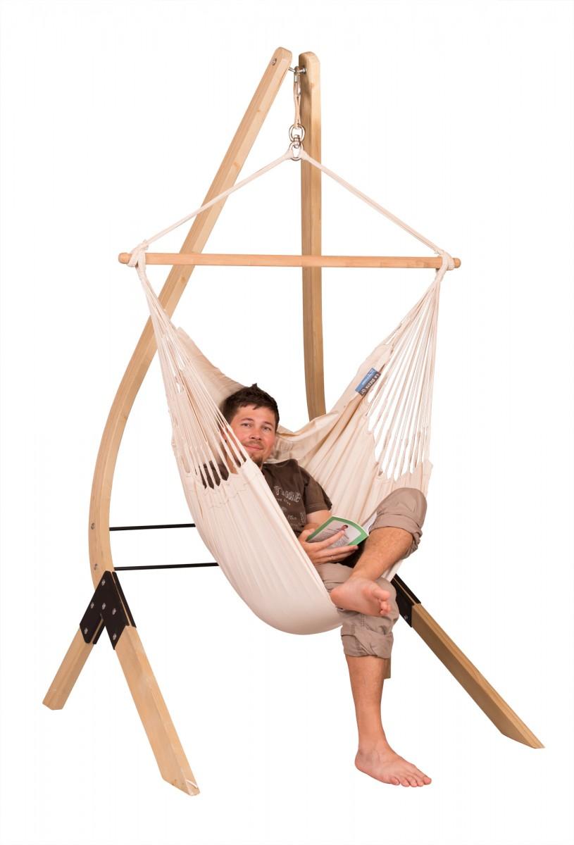 Modesta Latte Organic Cotton Basic Hammock Chair Labeity