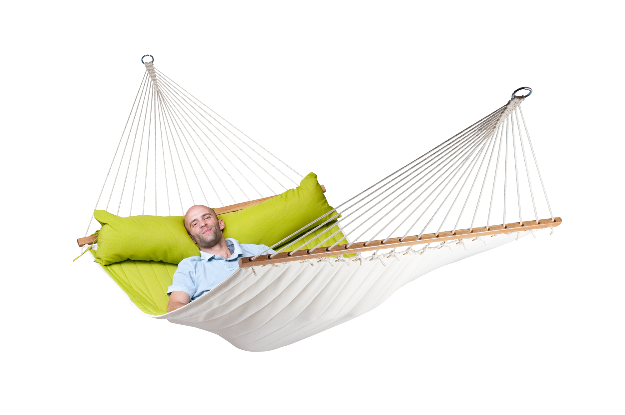 Home La Siesta Hammocks Spreader Bar Kingsize Hammock Alabama Avocado Quilted